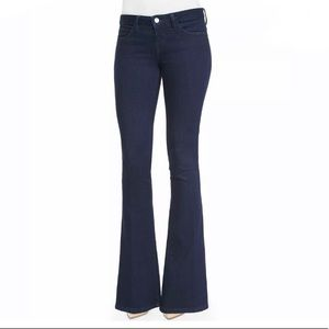 L'AGENCE Elysee Low Rise Flare Jeans in Indigo